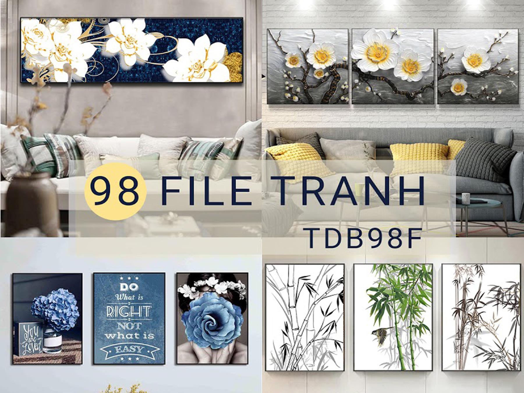 Tranh Trang Trí - Vol57 (TDB98)