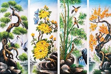 Tranh tứ quý, biểu tượng của bốn mùa