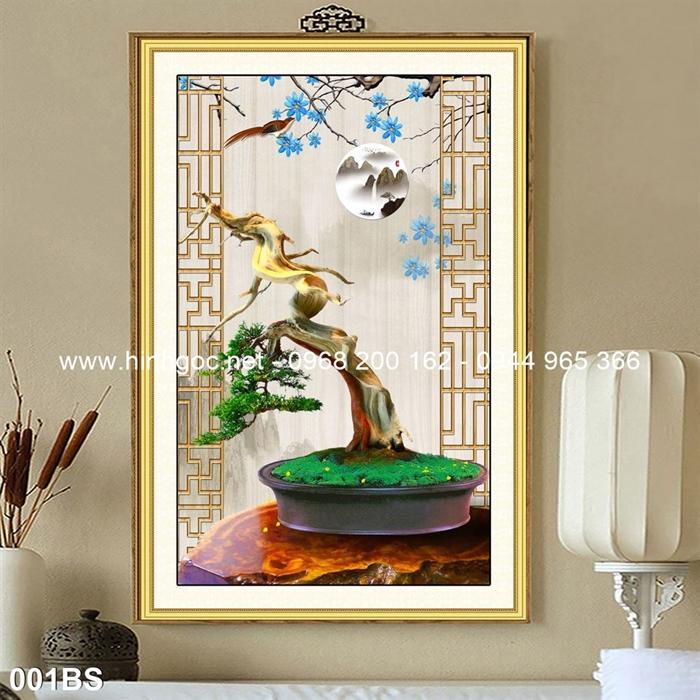 Tranh 3D cây bonsai- 001BS