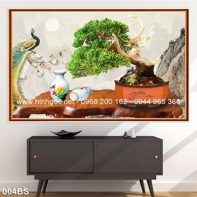 Tranh 3D cây bonsai- 004BS