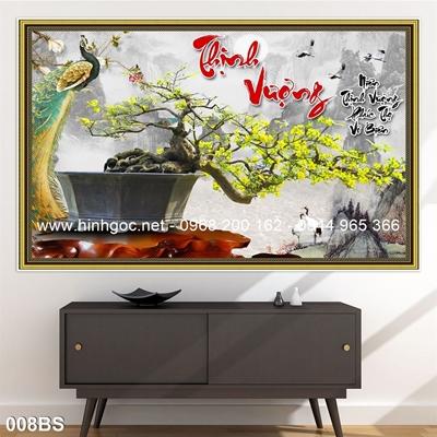 Tranh 3D cây bonsai- 008BS