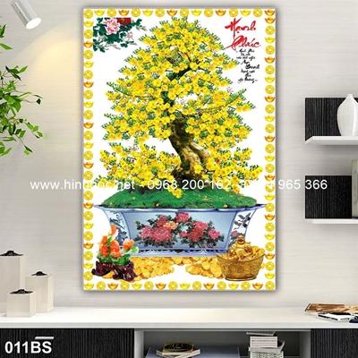 Tranh 3D cây bonsai- 011BS