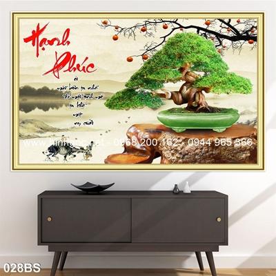 Tranh 3D cây bonsai- 028BS