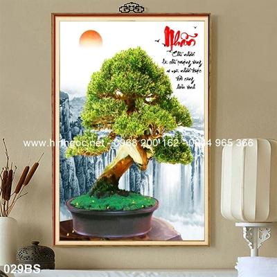 Tranh 3D cây bonsai- 029BS