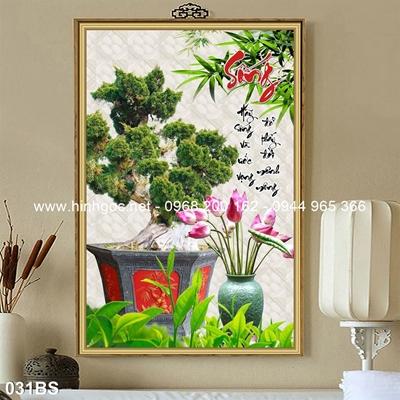 Tranh 3D cây bonsai- 031BS