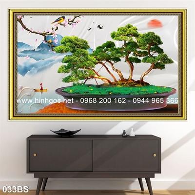 Tranh 3D cây bonsai- 033BS