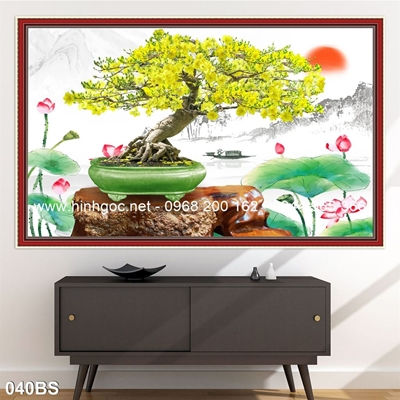 Tranh 3D cây bonsai- 040BS