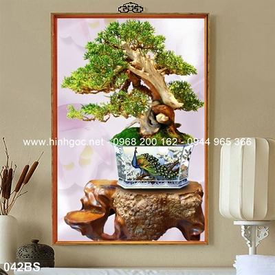 Tranh 3D cây bonsai- 042BS