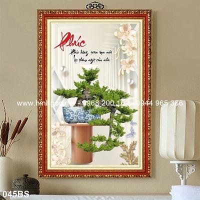 Tranh 3D cây bonsai- 045BS