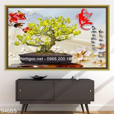 Tranh 3D cây bonsai- 046BS