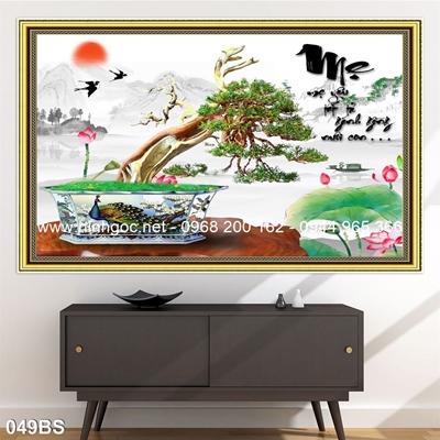 Tranh 3D cây bonsai- 049BS