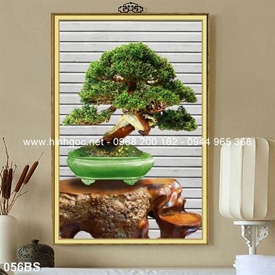 Tranh 3D cây bonsai- 056BS