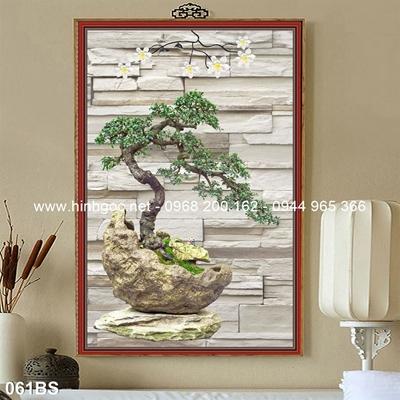 Tranh 3D cây bonsai- 061BS