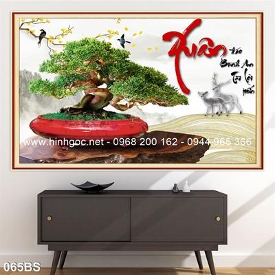 Tranh 3D cây bonsai- 065BS