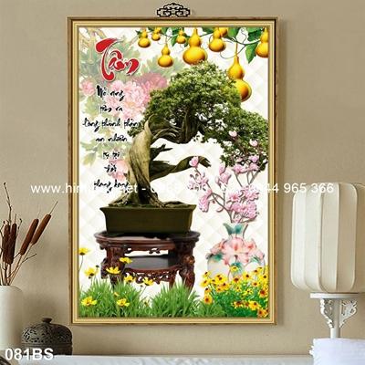 Tranh 3D cây bonsai- 081BS