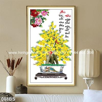 Tranh 3D cây bonsai- 088BS