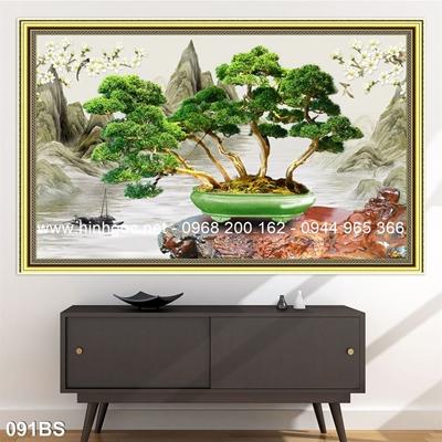 Tranh 3D cây bonsai- 091BS