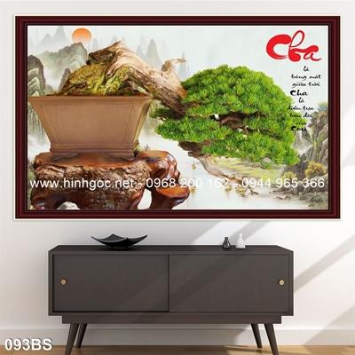 Tranh 3D cây bonsai- 093BS