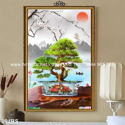 Tranh 3D cây bonsai- 094BS