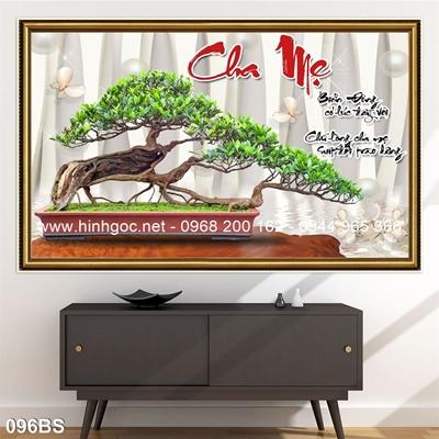 Tranh 3D cây bonsai- 096BS