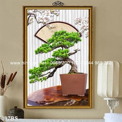 Tranh 3D cây bonsai- 097BS