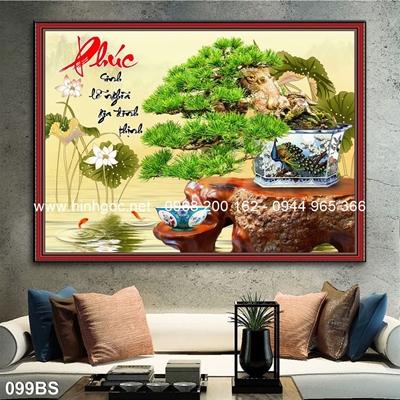 Tranh 3D cây bonsai- 099BS