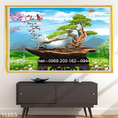Tranh 3D cây bonsai- 102BS