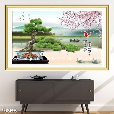 Tranh 3D cây bonsai- 103BS