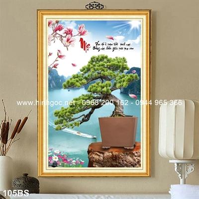 Tranh 3D cây bonsai- 105BS