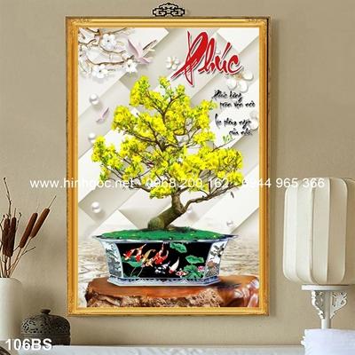 Tranh 3D cây bonsai- 106BS