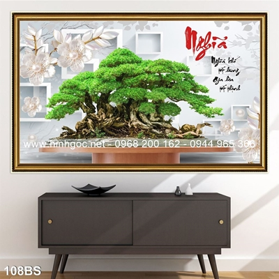Tranh 3D cây bonsai- 108BS