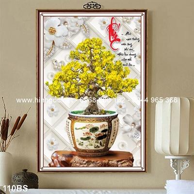 Tranh 3D cây bonsai- 110BS