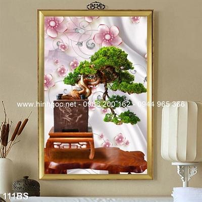 Tranh 3D cây bonsai- 111BS