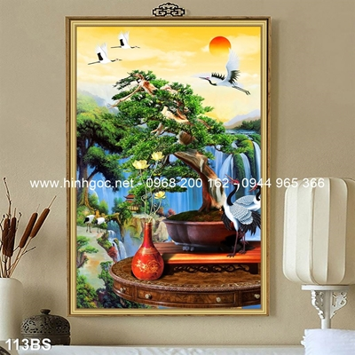 Tranh 3D cây bonsai- 113BS