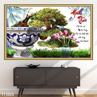 Tranh 3D cây bonsai- 115BS