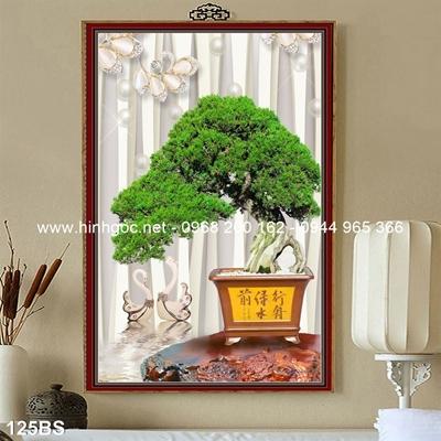 Tranh 3D cây bonsai- 125BS