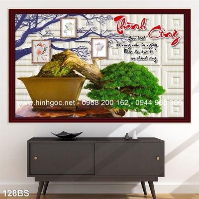 Tranh 3D cây bonsai- 128BS