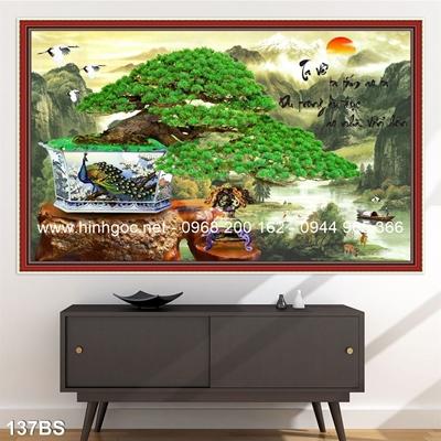 Tranh 3D cây bonsai- 137BS