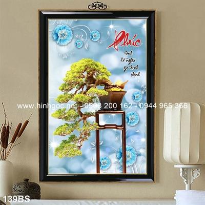 Tranh 3D cây bonsai- 139BS