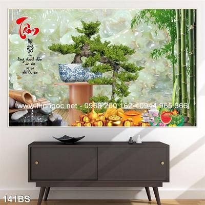 Tranh 3D cây bonsai- 141BS