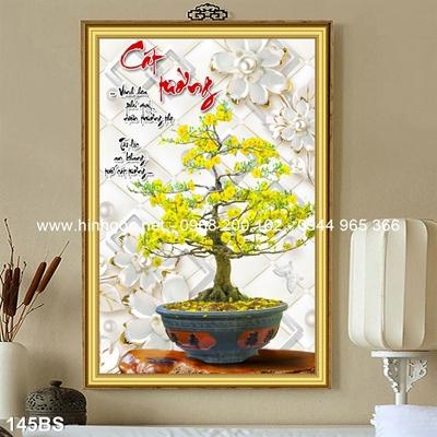 Tranh 3D cây bonsai- 145BS
