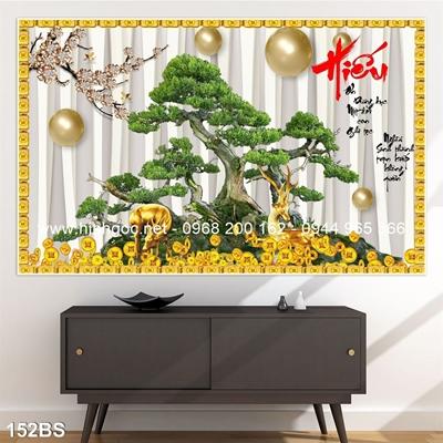 Tranh 3D cây bonsai- 152BS