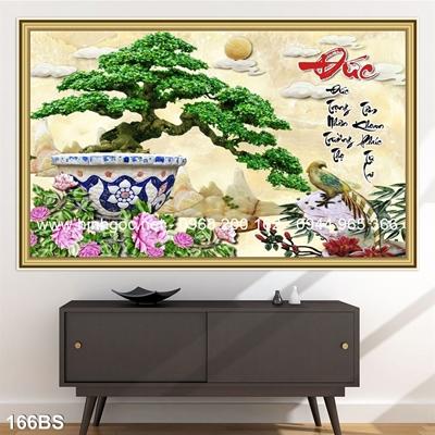 Tranh 3D cây bonsai- 166BS