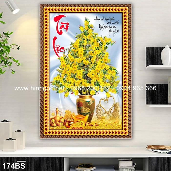Tranh 3D cây bonsai- 174BS