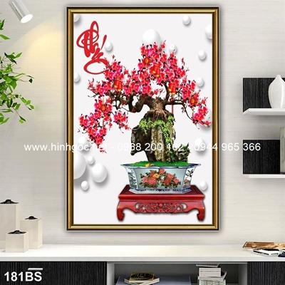 Tranh 3D cây bonsai- 181BS