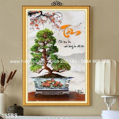 Tranh 3D cây bonsai- 185BS