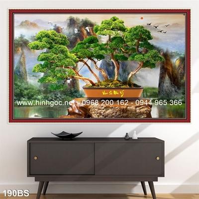 Tranh 3D cây bonsai- 190BS