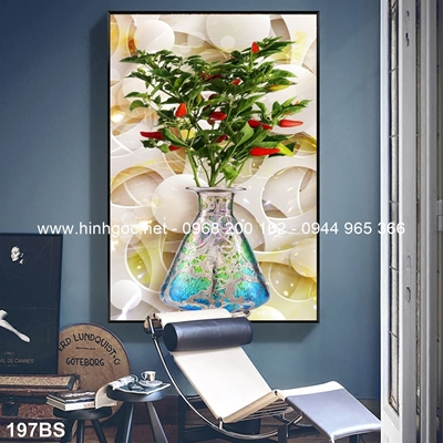 Tranh 3D cây bonsai- 197BS