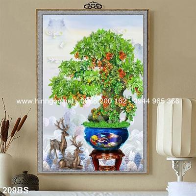 Tranh 3D cây bonsai- 209BS