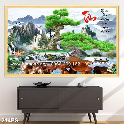 Tranh 3D cây bonsai- 214BS